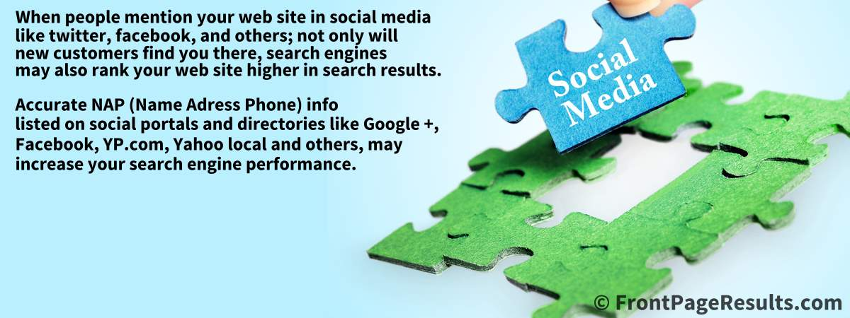 Social media is a big piece of the web site visitors puzzle